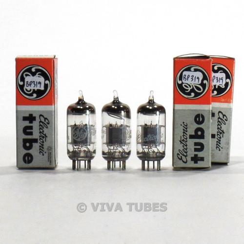 True NOS NIB Matched Trio (3) GE USA 6GH8A Grey Plate Tubes