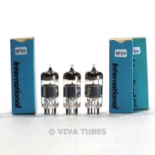 True NOS NIB Matched Trio (3) IEC Japan 6GH8A Grey Plate Tubes 100%