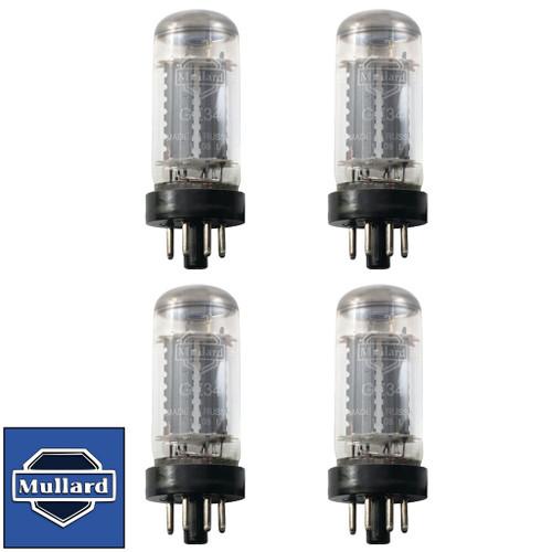 Brand New Matched Quad (4) Mullard Reissue GZ34 / 5AR4 Vacuum Tubes