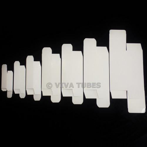 White Vacuum Tube Boxes with Divider