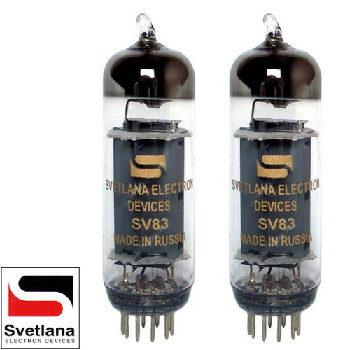 Brand New Plate Current Matched Pair (2) Svetlana SV83 / 6P15P Vacuum Tubes