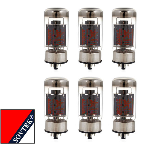 Brand New Plate Current Matched Sextet (6) Sovtek 6550WE Vacuum Tubes