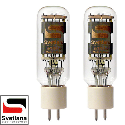 Brand New Factory Matched Pair (2) Svetlana SED SV-572-160 Vacuum Tubes