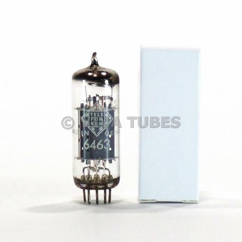 True NOS Vintage Telefunken 6463 Dual Triode Vacuum Tube <> Bottom Wing Plates