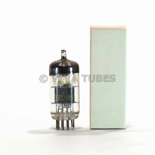 True NOS Fully Tested RFT Germany ECC85 / 6AQ8 6N1P Grey Plate Vacuum Tube
