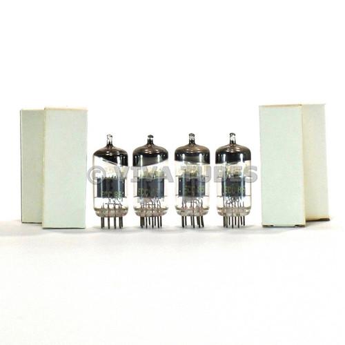 True NOS Matched Quad (4) RFT Germany ECC85 / 6AQ8 6N1P Grey Plate Vacuum Tubes