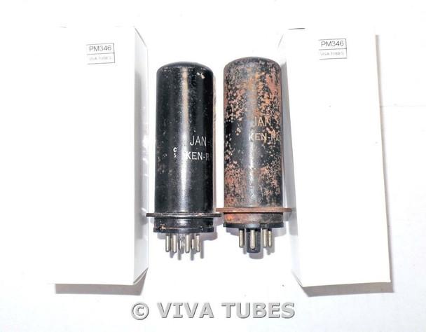 NOS Date Matched Pair Ken-Rad USA JAN-CKR-6L6 Metal MGK Vacuum Tubes 100+%