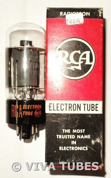 NOS NIB RCA USA 12AV5GA Gray Plate Side [] Get TALL Vacuum Tube 100+%