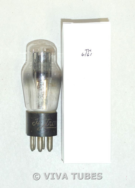 NOS Hytron USA 25Z5 Black Smooth Plate Engraved ST Rattles Vacuum Tube 25Z5G