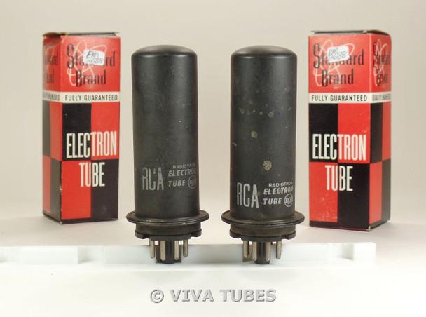 Matched Pair RCA USA 1631 Metal Vacuum Tubes 93%