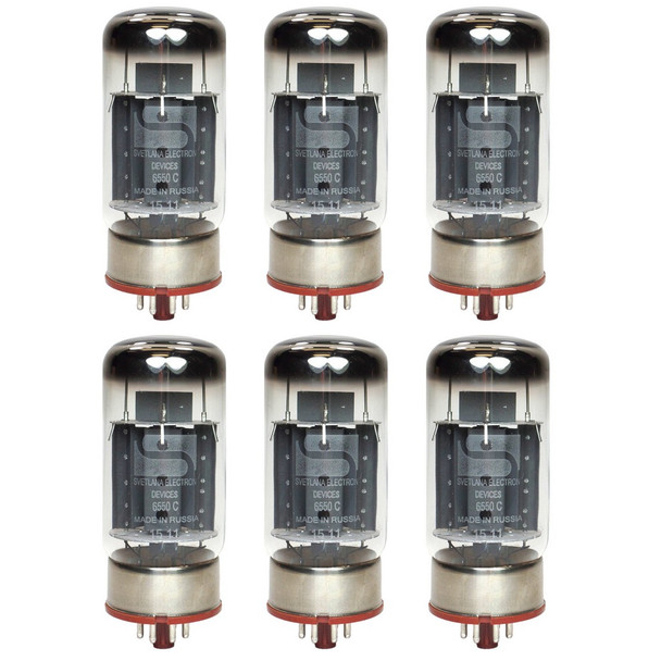 New Matched Sextet (6) Svetlana 6550C / KT88 Winged C Reissue Vacuum Tubes