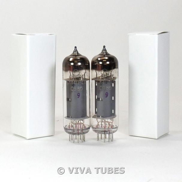 NOS Ip Matched Pair Soviet Military 6P14P-EV = 7189 6BQ5 EL84 E84L Vacuum Tubes