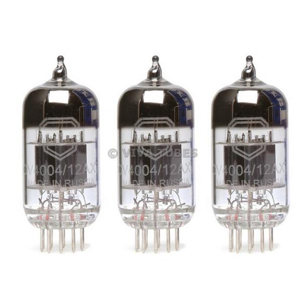New Matched Trio (3) Mullard CV4004 / 12AX7 Reissue Vacuum Tubes