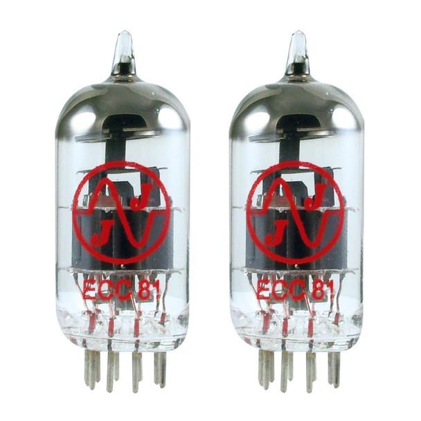 New Matched Pair (2) JJ 12AT7 / ECC81 Vacuum Tubes