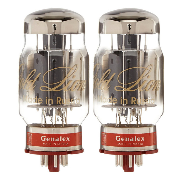 New Matched Pair (2) Genalex Gold Lion KT88 Reissue Vacuum Tubes