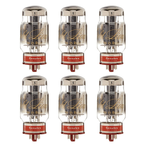New Matched Sextet (6) Genalex Gold Lion KT88 Reissue Vacuum Tubes