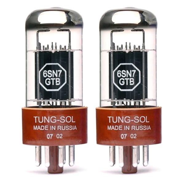 New Matched Pair (2) Tung-Sol 6SN7GTB Vacuum Tubes