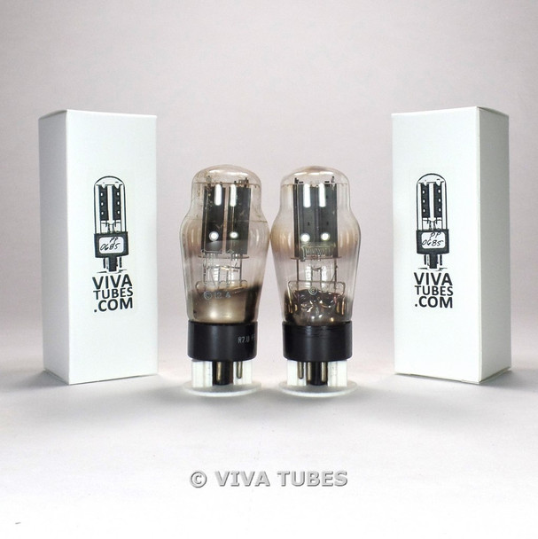 Tests NOS Date Matched Pair Philips GZ32 [5V4G] Welded Plate - [] Foil Get Tubes