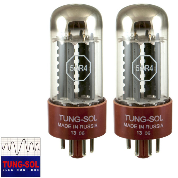 Brand New Tung-Sol Reissue 5AR4 GZ34 Rectifier MATCHED PAIR (2) Vacuum Tubes