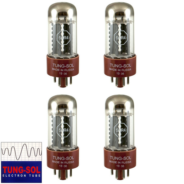 Brand New Tung-Sol Reissue 5AR4 GZ34 Rectifier MATCHED QUAD (4) Vacuum Tubes