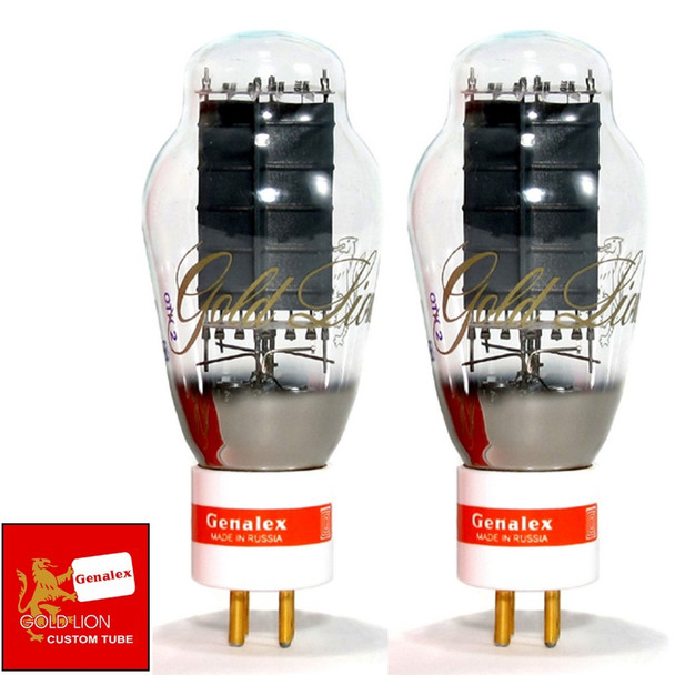 New Genalex Reissue Current Matched Pair (2) PX300B / 300B GOLD PIN Vacuum Tubes