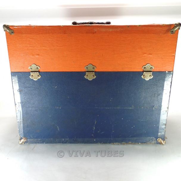 Orange & Blue Westinghouse, Vintage Radio TV Vacuum Tube Caddy Carrying Case