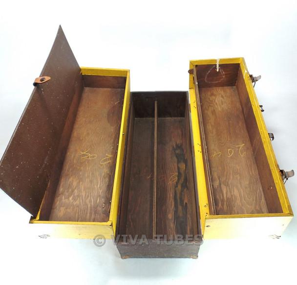 Admiral, Vintage Radio TV Vacuum Tube Valve Caddy Carrying Case