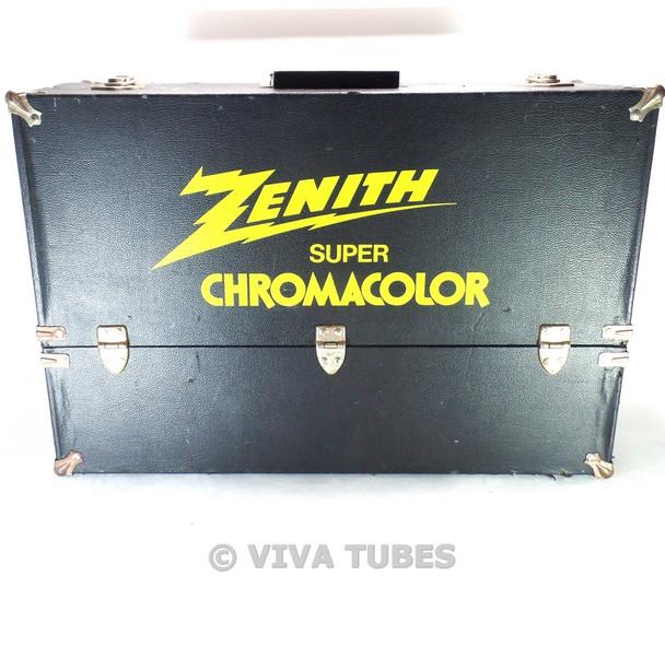 Large, Black, Zenith, Vintage Radio TV Vacuum Tube Valve Caddy Carrying Case