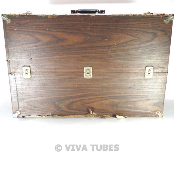Large, Brown, Unknown Brand, Vintage Radio TV Vacuum Tube Caddy Carrying Case