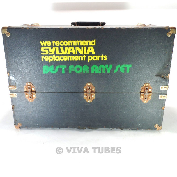 Large, Black Sylvania, Vintage Radio TV Vacuum Tube Valve Caddy Carrying Case