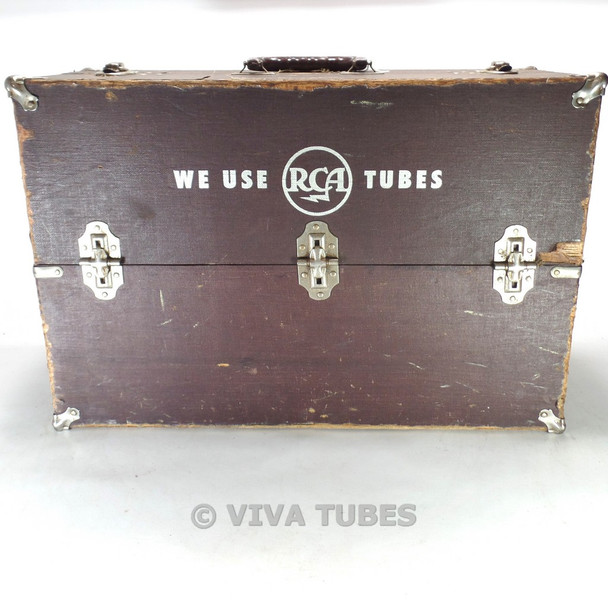 Large, Brown, RCA, Vintage Radio TV Vacuum Tube Valve Caddy Carrying Case