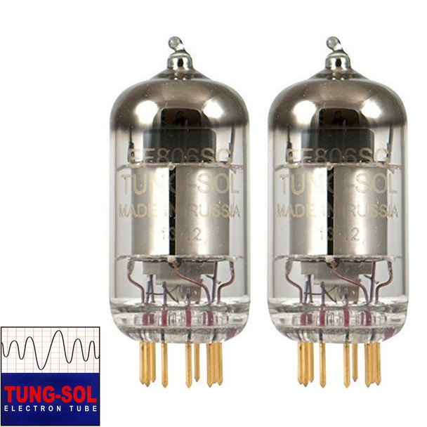 New Gain Matched Pair (2) Tung-Sol Reissue EF806S / EF86 / 6267 Gold Pin Tubes
