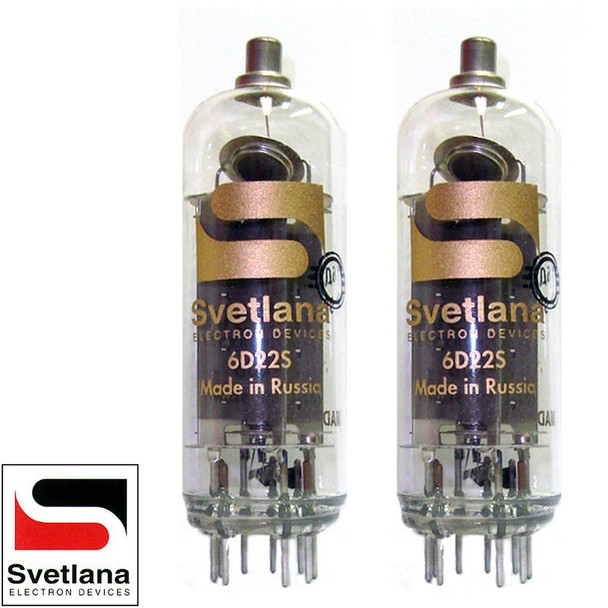 Brand New Matched Pair (2) Svetlana 6D22 SOVIET RECTIFIER Vacuum Tubes
