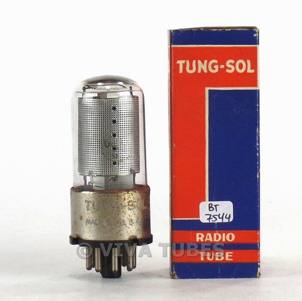 True NOS NIB Vintage Tung-Sol USA 6SK7GT Silver Mesh Plate Top [] Get Rust Tube