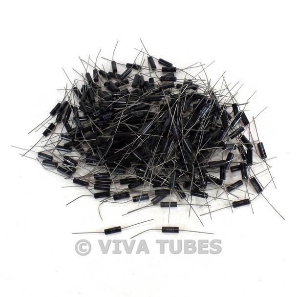 Vintage Lot of 289 Small Metal Film & Ceramic Wire Wound Resistors Various Ohms