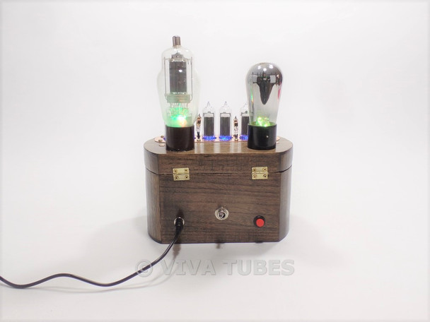 Ultra Cool USA Made Nixie Vacuum Tube Clock Steampunk 6 Digit Multi Color LED