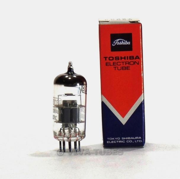 True NOS NIB Toshiba Japan 7DJ8/PCC88 Silver Shield Top O Get Vacuum Tube 100%+