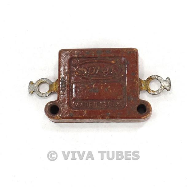 Vintage Solar Type XQ-5W Flat Mica Capacitor 0.014uF 600V