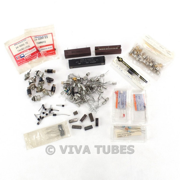 Vintage Lot of Approx 160 Diodes & Transistors