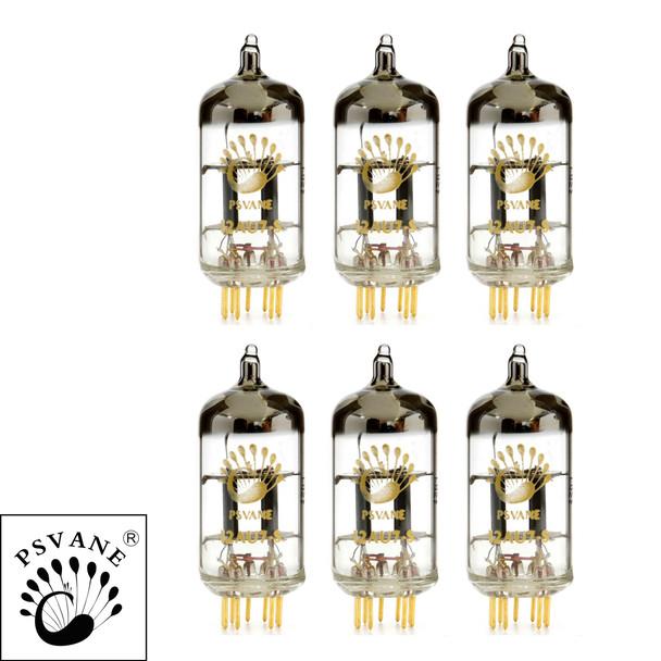 Gain Matched Sextet Psvane 12AU7-S ECC82 Art Series Vacuum Tubes