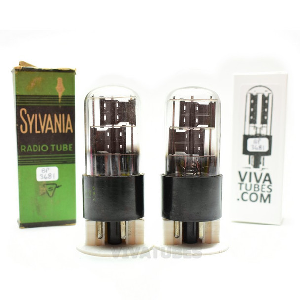 Tests NOS Matched Pair Sylvania USA 6X5GT/G Black Plate Foil Get 3 Mica Tubes