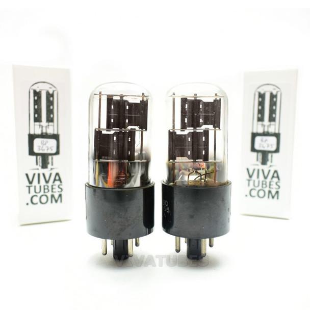 Tests NOS Matched Pair Sylvania USA JAN-CHS-6X5GT/VT-126B Black PL 3 Mica Tubes