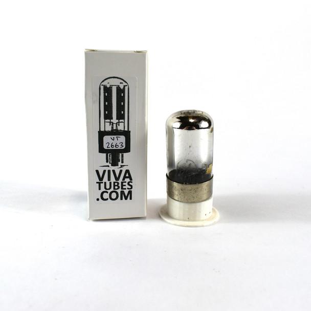 Tests NOS GE USA 7C6 Black Smooth Round 3 Mica Vacuum Tube 100+%