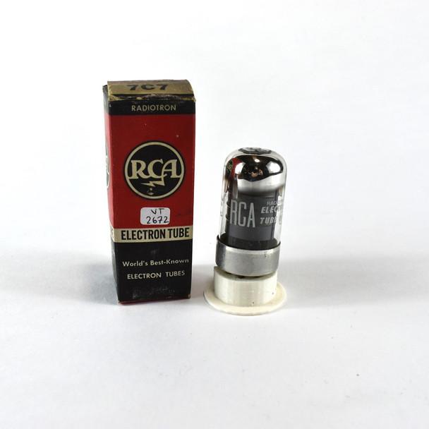 True NOS NIB RCA USA 7C7 Black Vacuum Tube 100+%