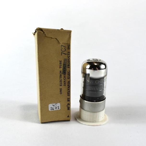 True NOS NIB Sylvania USA JAN-CHS-7C7 Black Vacuum Tube 100+%