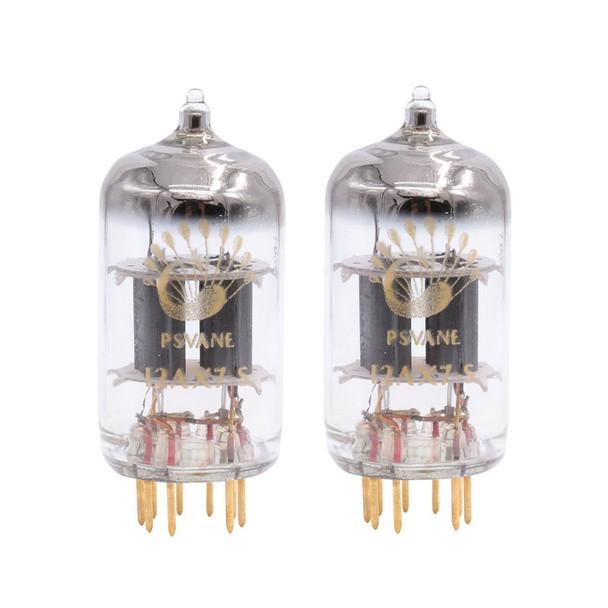 Gain Matched Pair (2) Psvane 12AX7-S ECC83 Art Series Gold Pins Vacuum Tubes