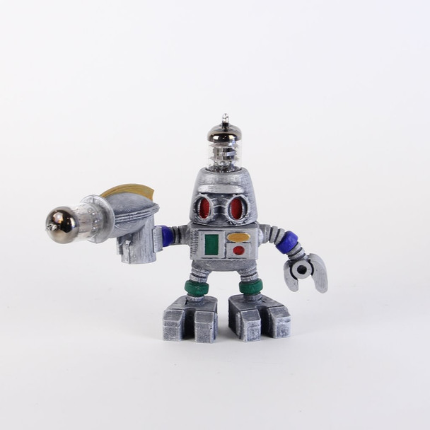 Handcrafted Vacuum Tube Robot Figurine - Small - Robeard