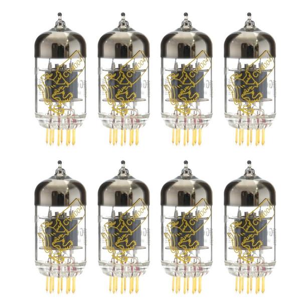 New Gain Matched Octet Genalex Gold Lion CV4004 Short Plate Gold Pins 12AX7 Vacuum Tubes