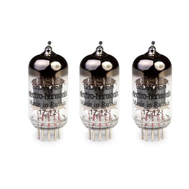 New Gain Matched Trio Electro-Harmonix 12DW7 / ECC832 Vacuum Tubes