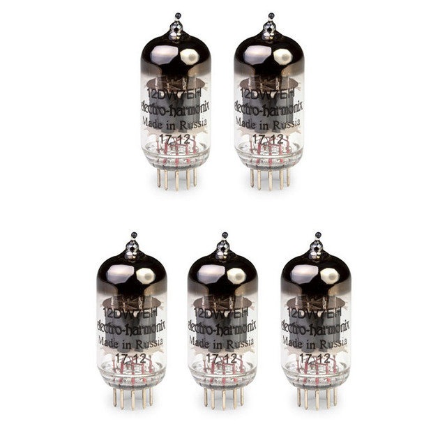 New Gain Matched Quintet Electro-Harmonix 12DW7 / ECC832 Vacuum Tubes